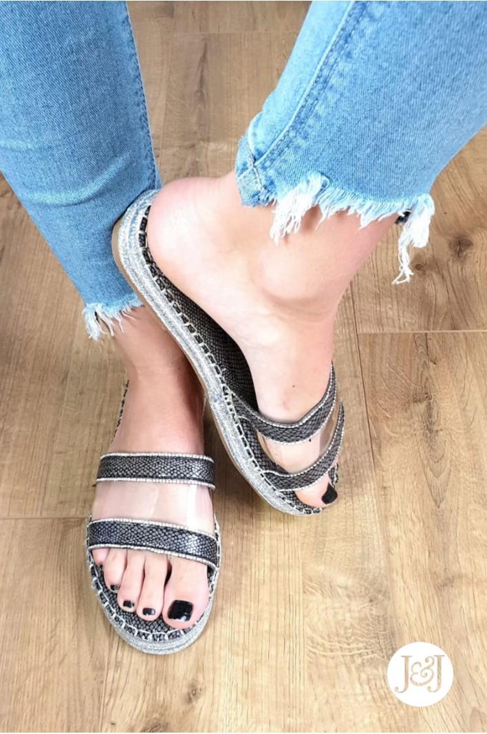 "Sandales grises ""Rika"""