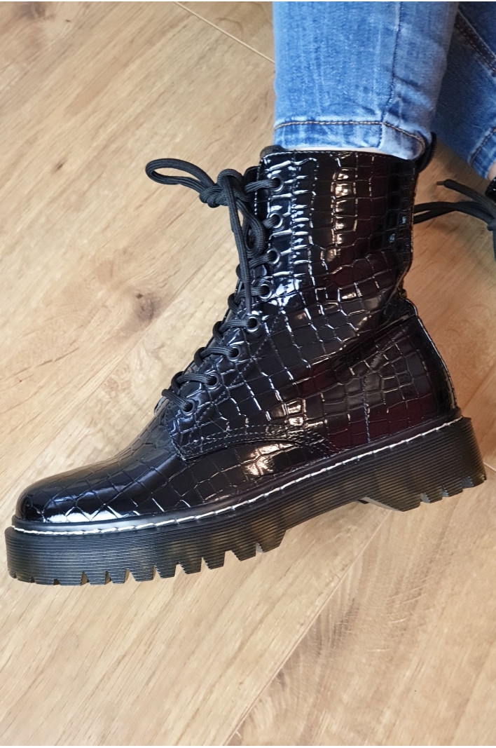 "Bottines croco "" Victoire"""