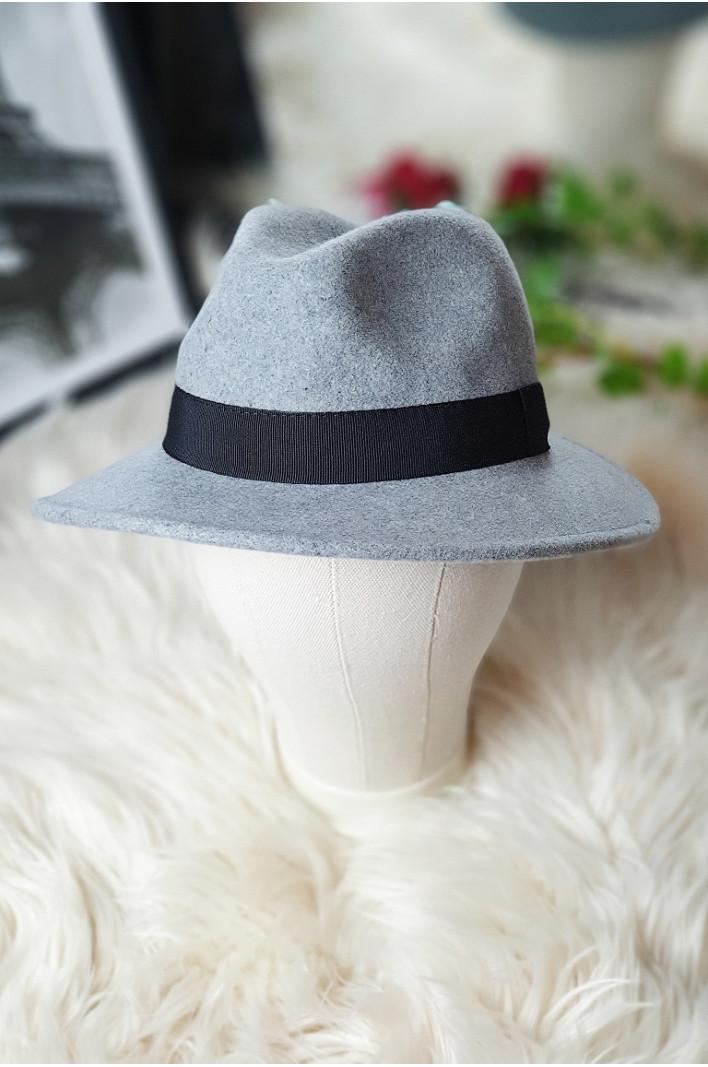 Chapeau laine gris