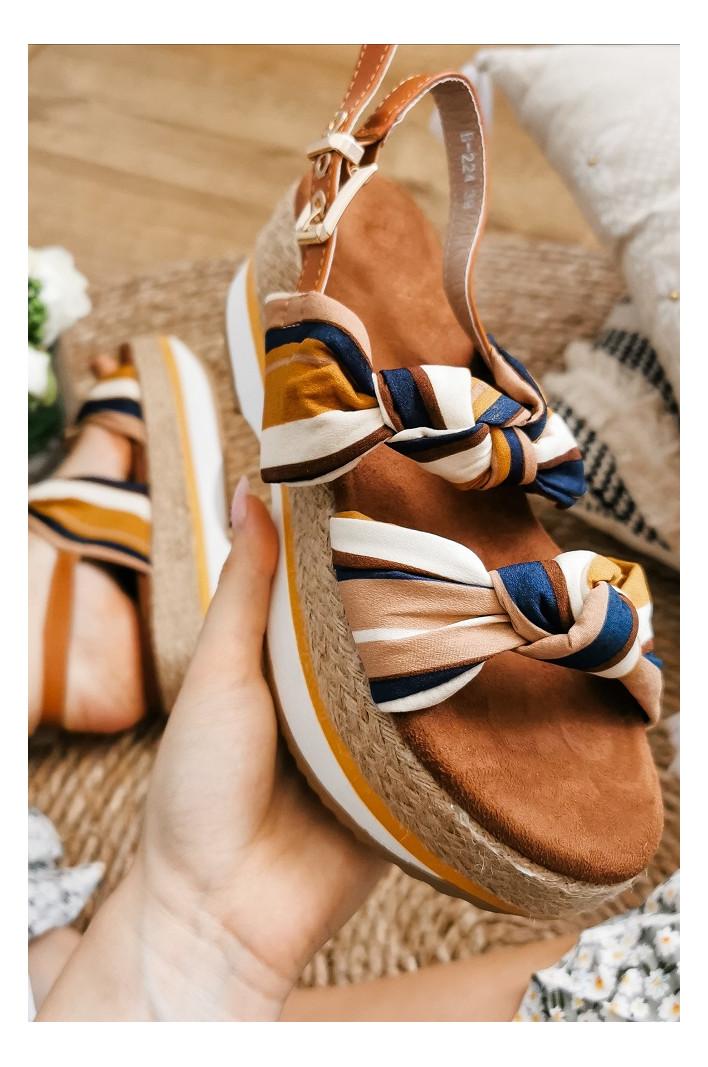 Sandales compensées Enrika