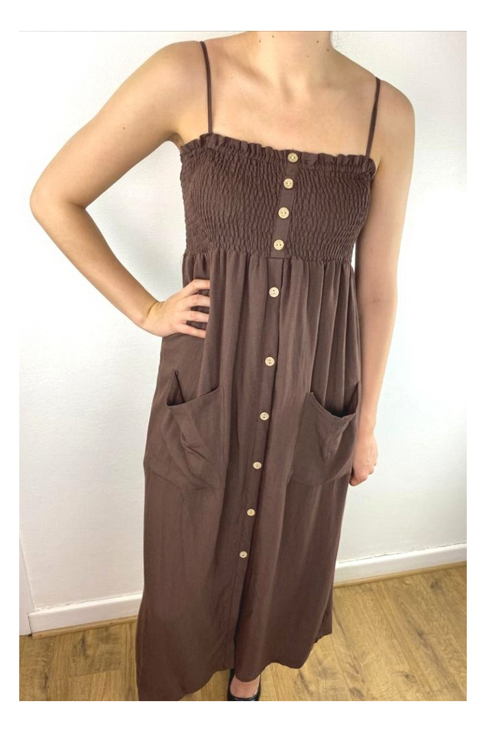 Robe marron Madrid