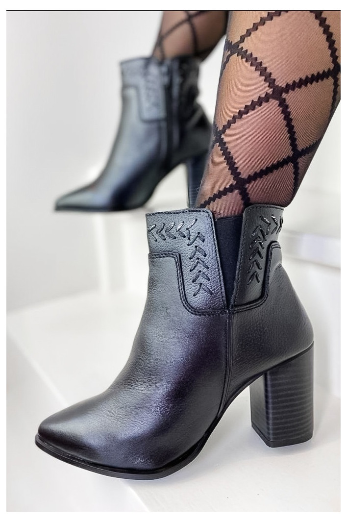 Bottines Cuir Naila Black - Manoukian