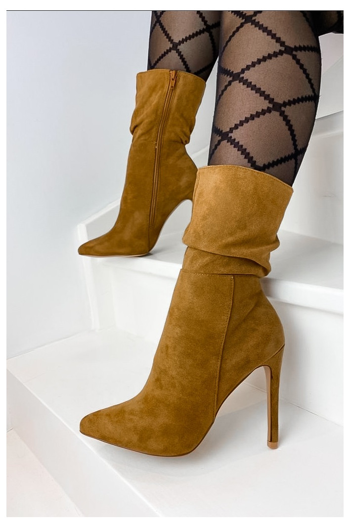 Bottines Cuir Lally Camel