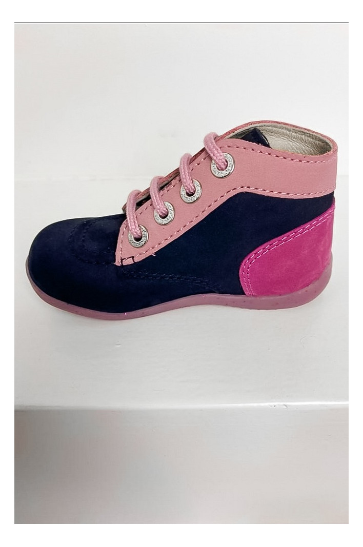 Bottines Bonbon Marine Rose Tricolore - Kickers