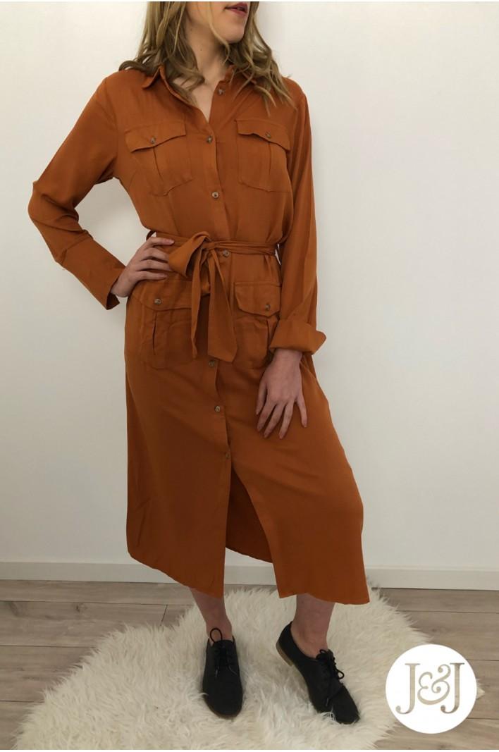 """Robe chemise Camel """"Marrakech"""""""