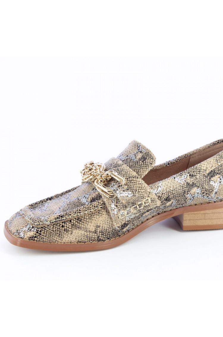 Mocassins Python chaine dorée - Vanessa Wu
