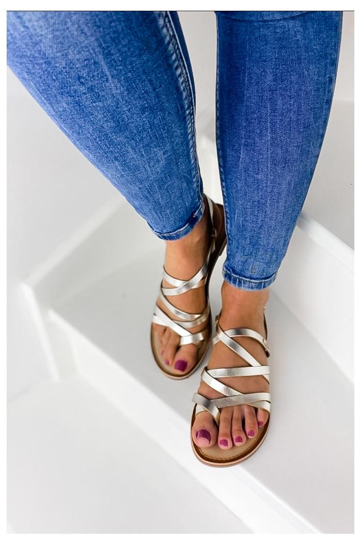Sandales Cuir Brenda Dorées...