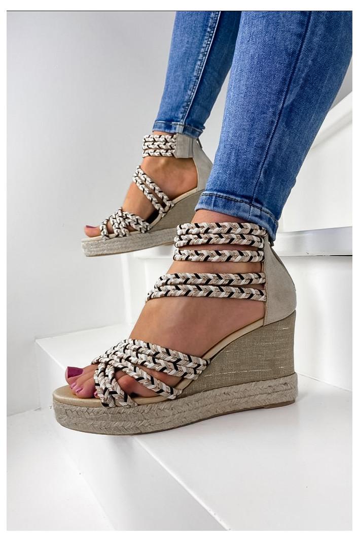 Sandales compensées...