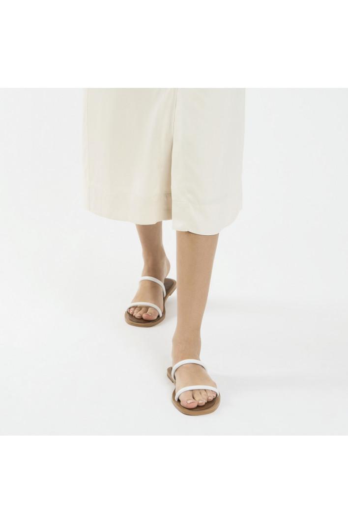 Mules minimalistes Blanc - Vanessa Wu