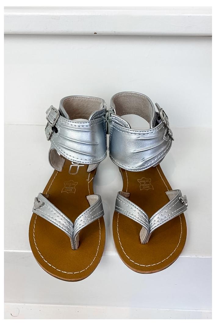 Sandales enfant Valentine Argent Métal - Les Petites Bombes