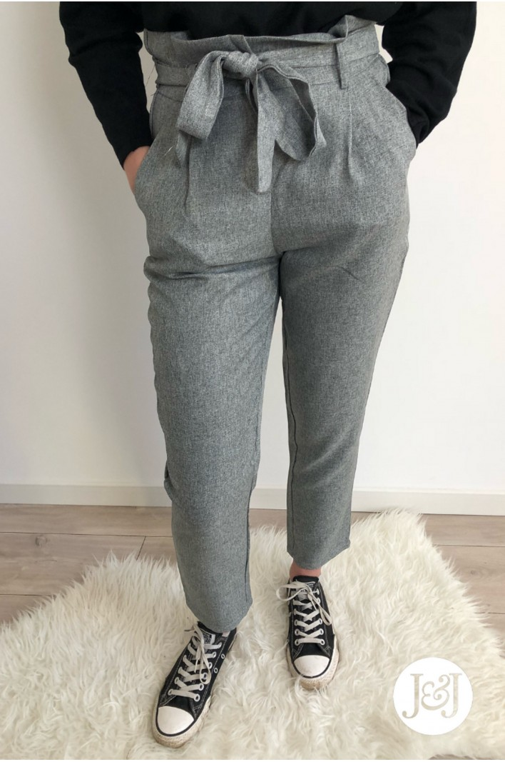 """Pantalon taille haute gris """"Glasgow"""""""