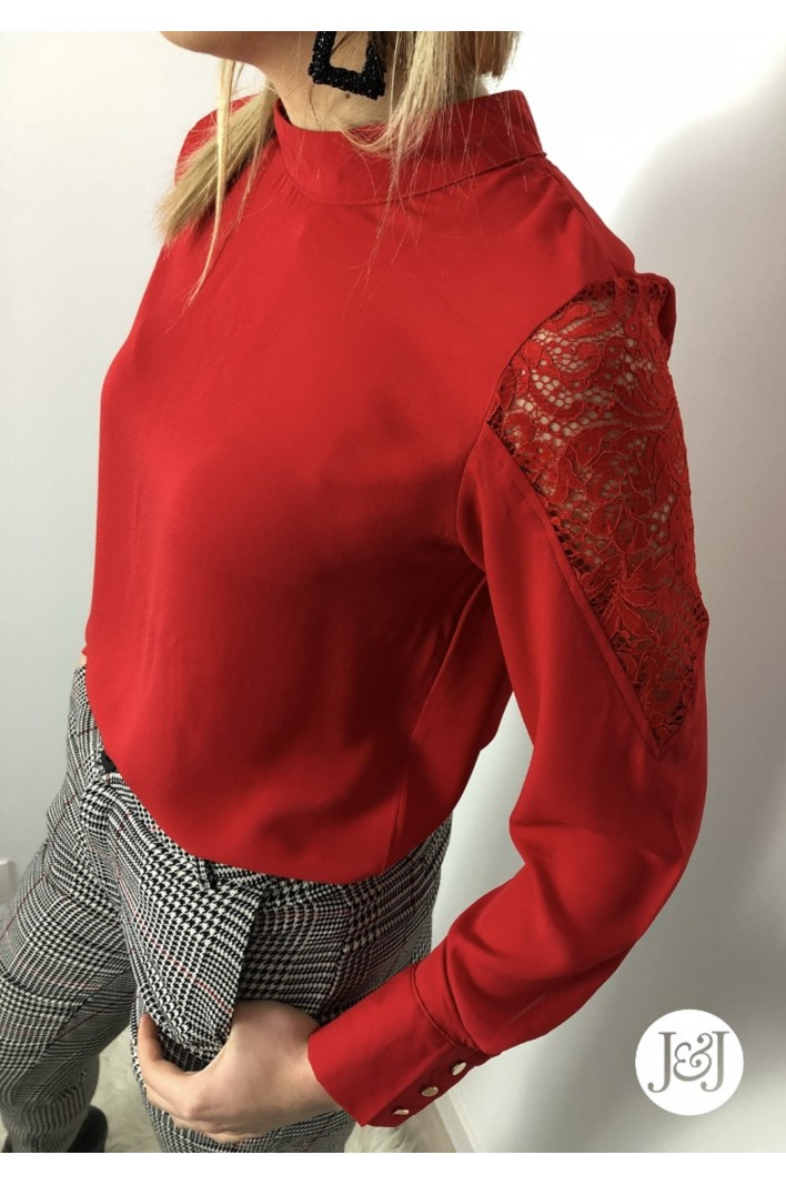 "Blouse dentelle Rouge ""Moscou"""