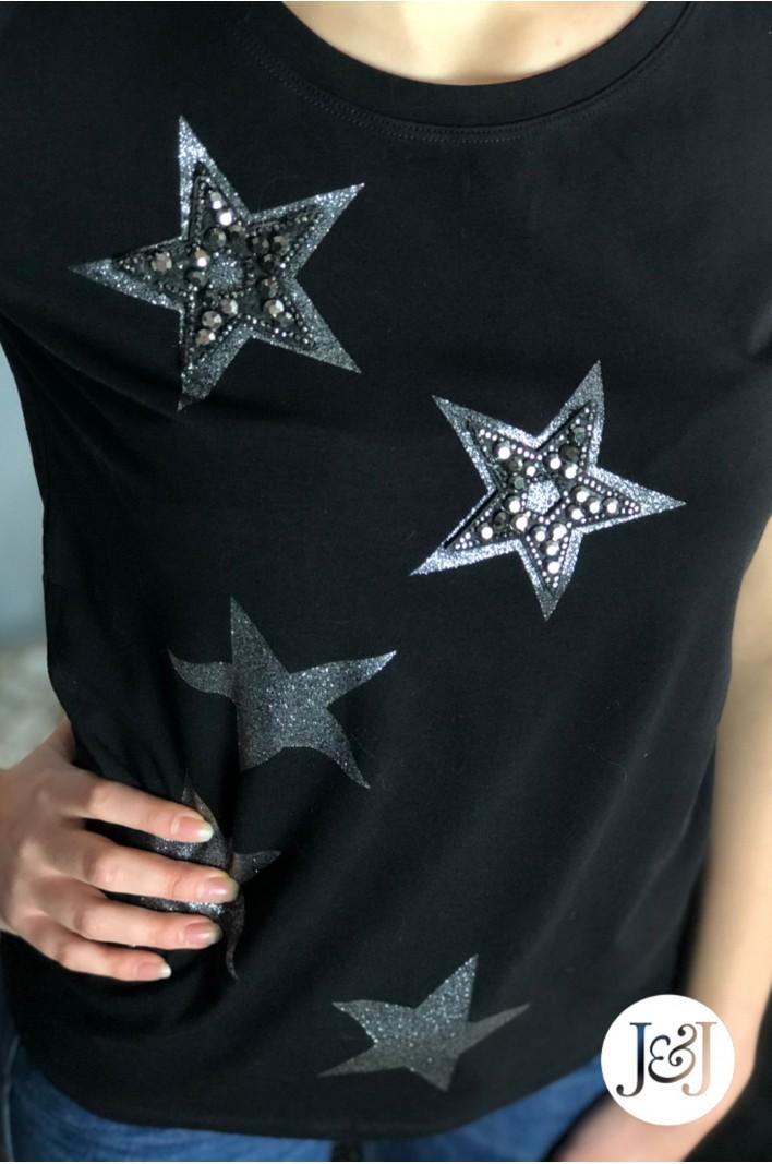 """T-shirt noir étoiles """"Managua"""""""